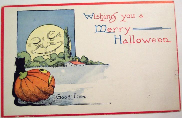 Postales Halloween vintage 098