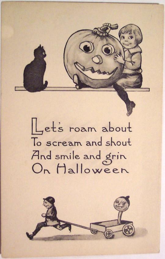 Postales Halloween vintage 099