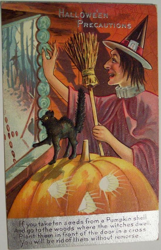 Postales Halloween vintage 118