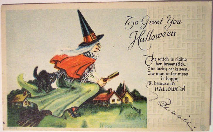 Postales Halloween vintage 131