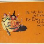 Postales de Halloween vintage