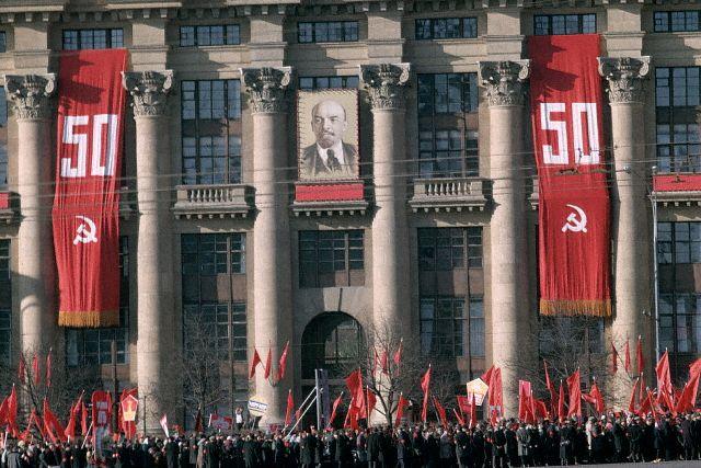 Anniversary Procession in Red Square