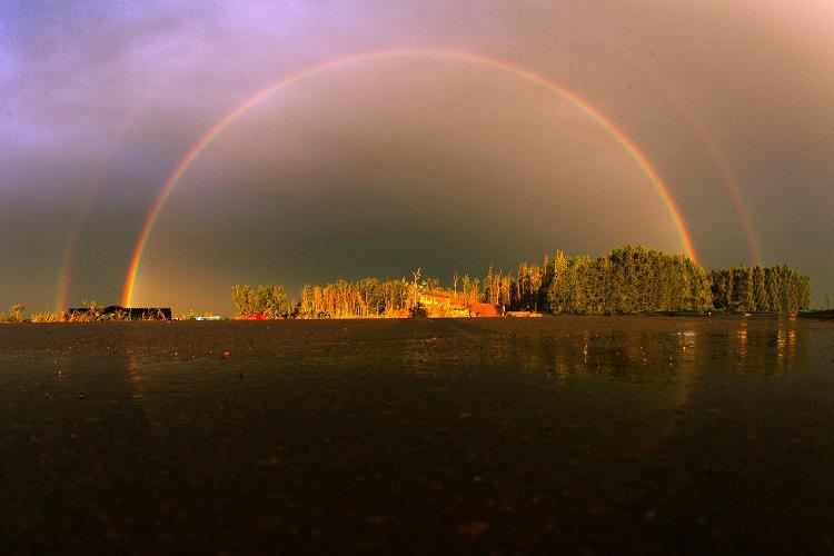 arcoiris reflejo canada