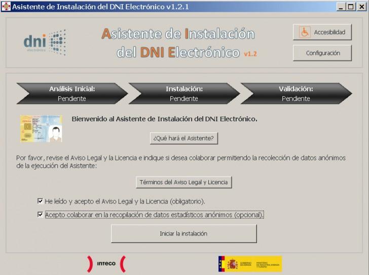 asistente instalacion DNI electronico
