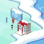 Juego en la ciudad de nieve