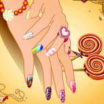 Juego con decoracion de uñas