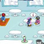 Juego en la hamburguesería de pingüinos