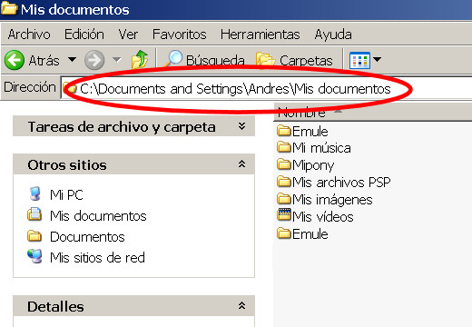 mis documentos ruta
