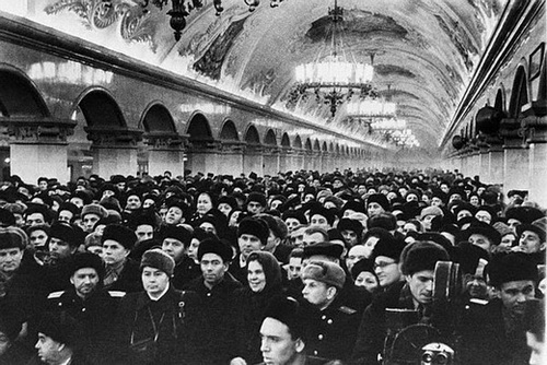 Crowd Gathered in Subway Station