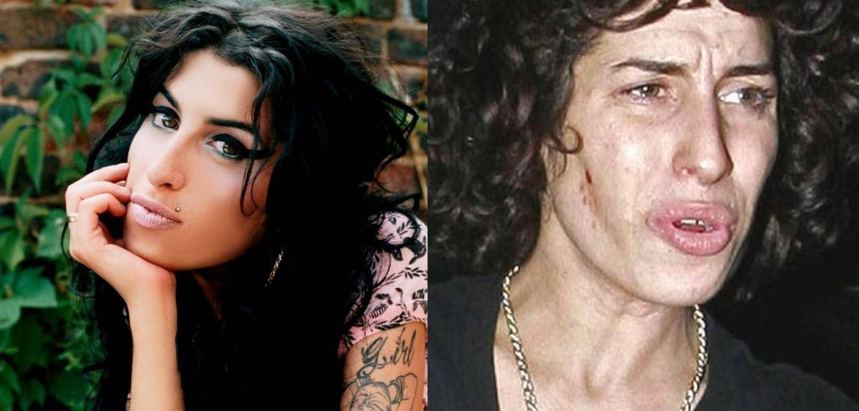 Amy Winehouse sin maquillaje