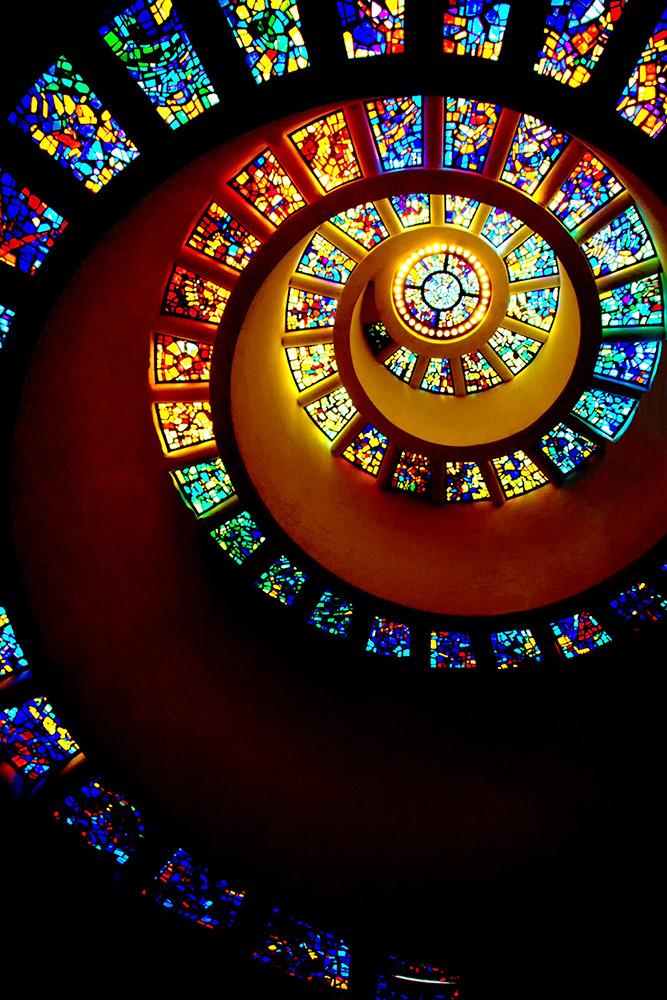 Iglesia espiral Dia Accion Gracias Dallas Texas