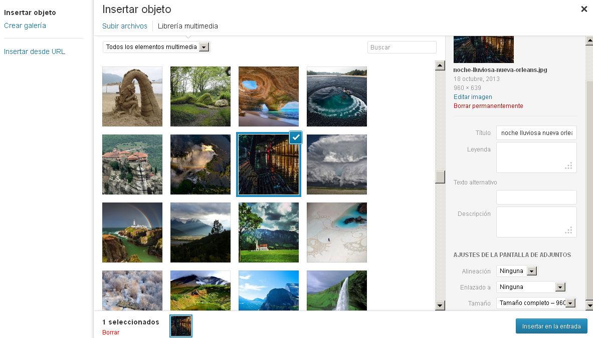 añadir imagenes wordpress