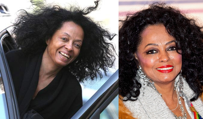 diana ross sin maquillaje