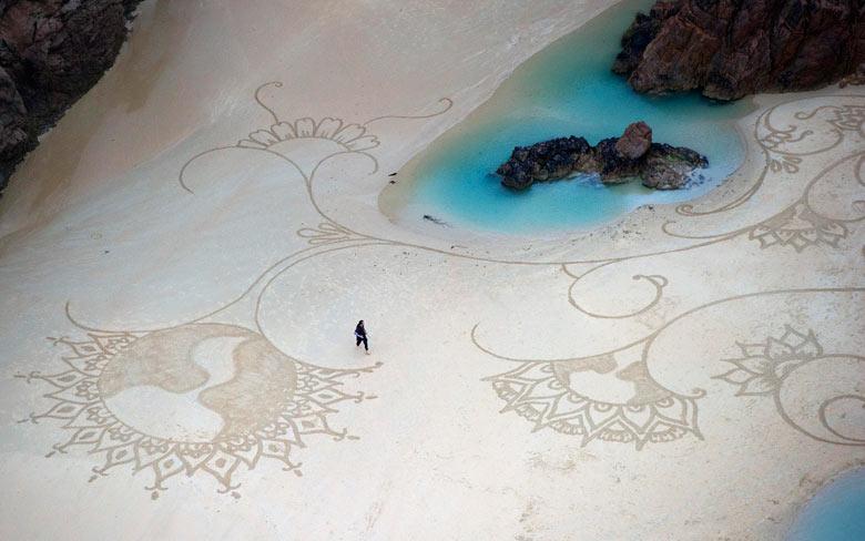 dibujos arena hawai