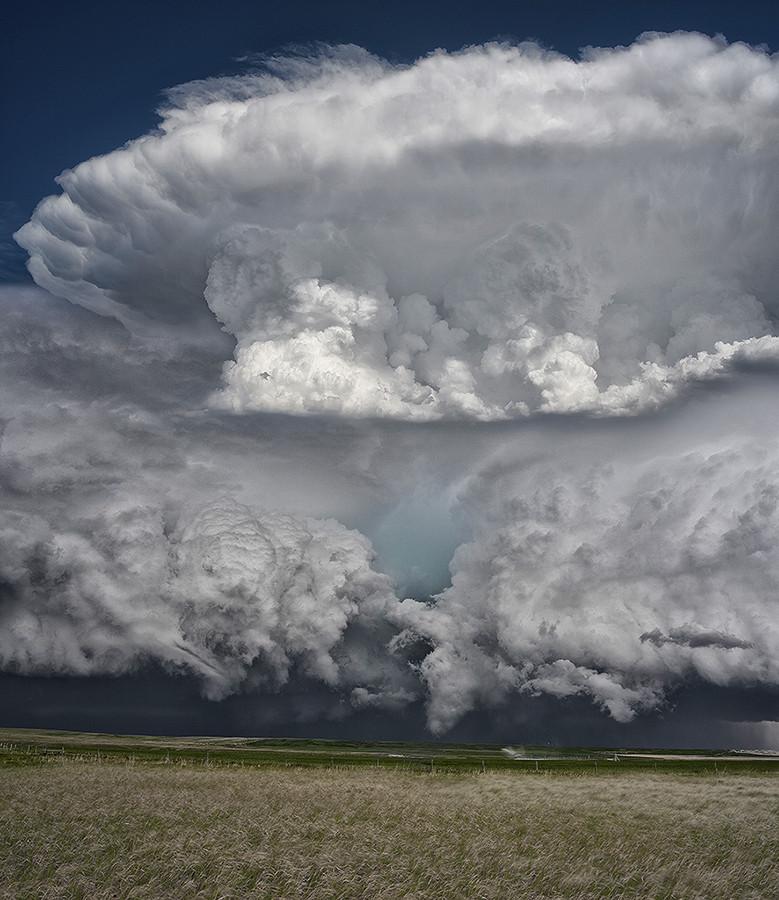 tormenta supercelda llanuras Montana Estados Unidos