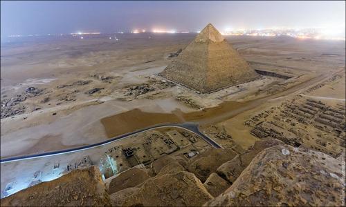 vista cima Gran Piramide Egipto