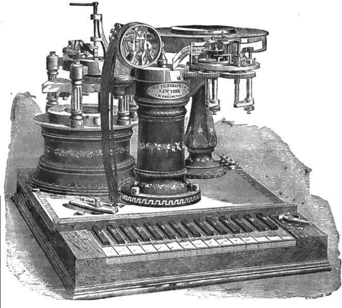 electro motor telegrafo 1880 Phelps