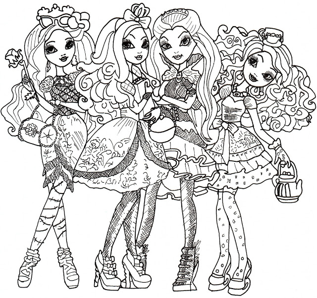 colorear ever after high