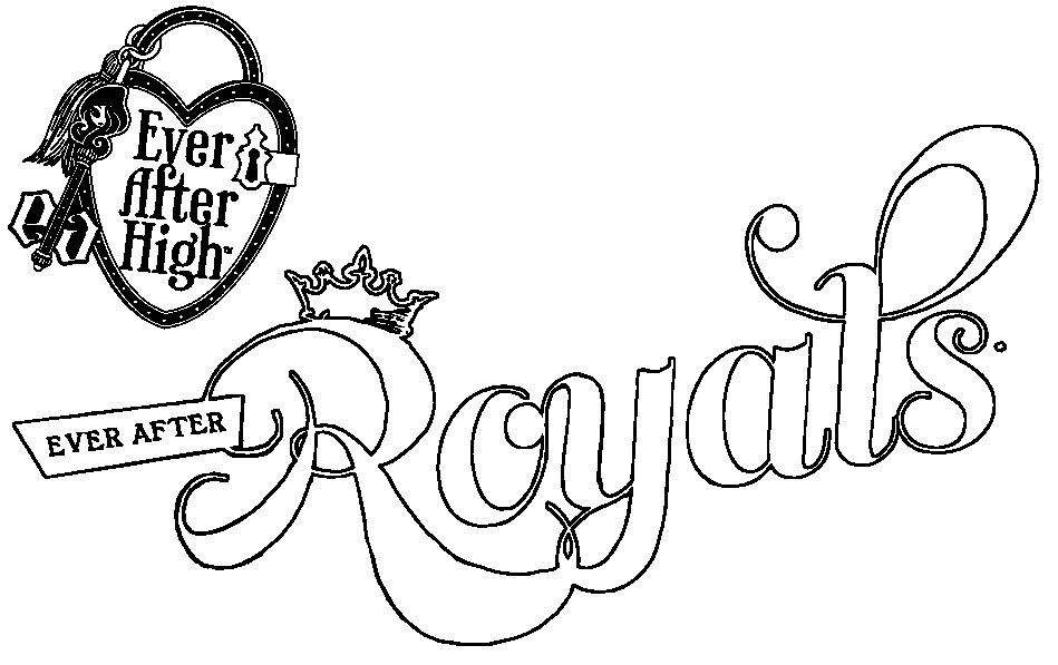 colorear ever after high royals