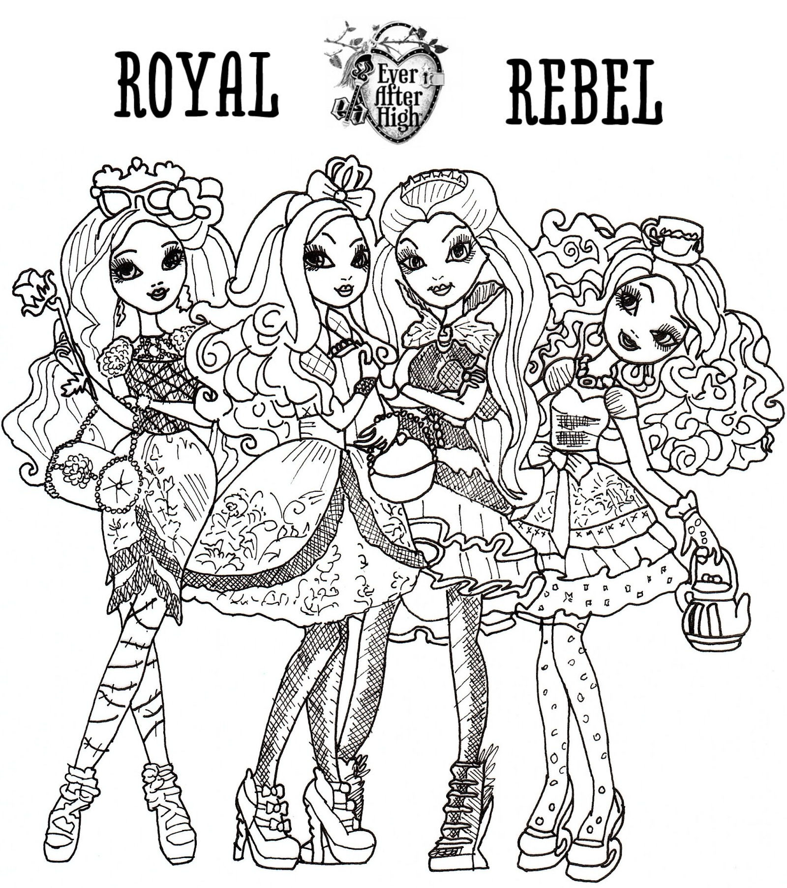 dibujo colorear ever after high