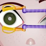 Juego en la clinica oftalmológica