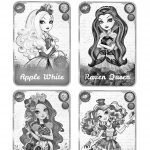 Cartas de Ever After High para pintar