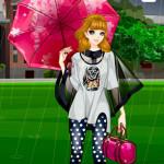 Juego con moda bajo la lluvia