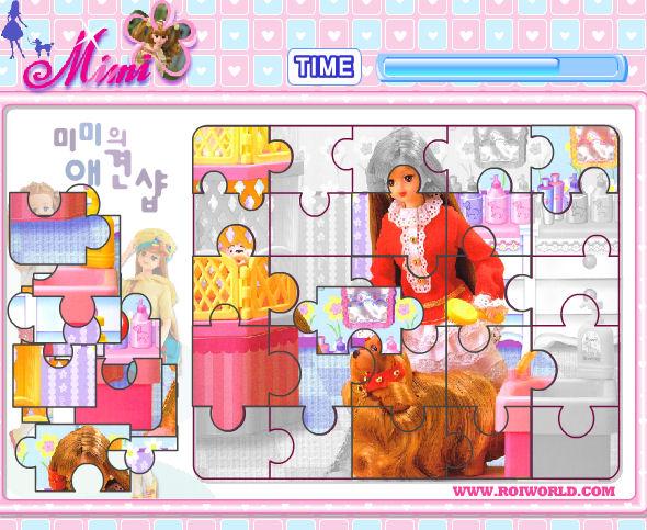 juego puzzle barbie
