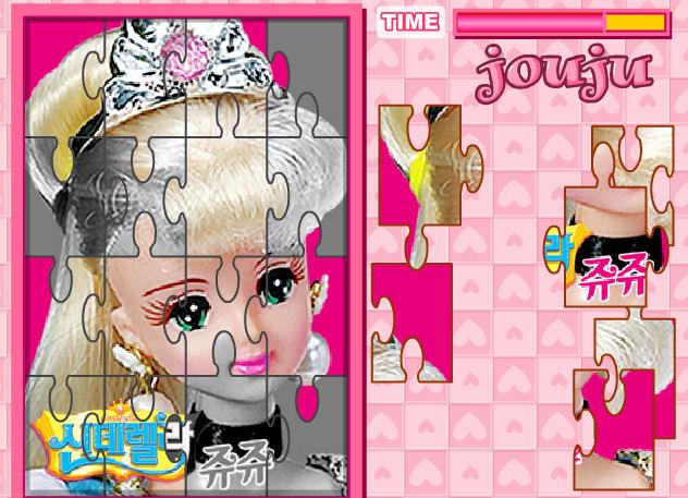 juego rompecabeza barbie