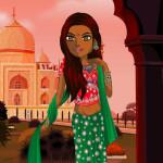 Juego con trajes tradicionales de India