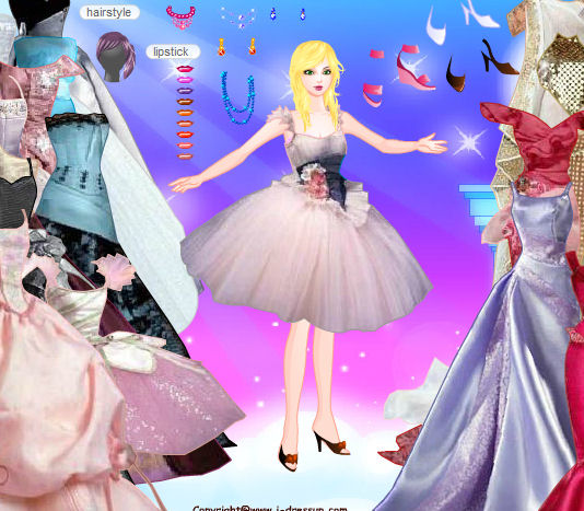 juego vestir fiesta barbie
