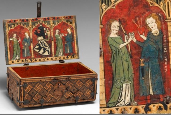 cofre aleman siglo XIV corazon