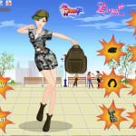 Juego con vestidos militares