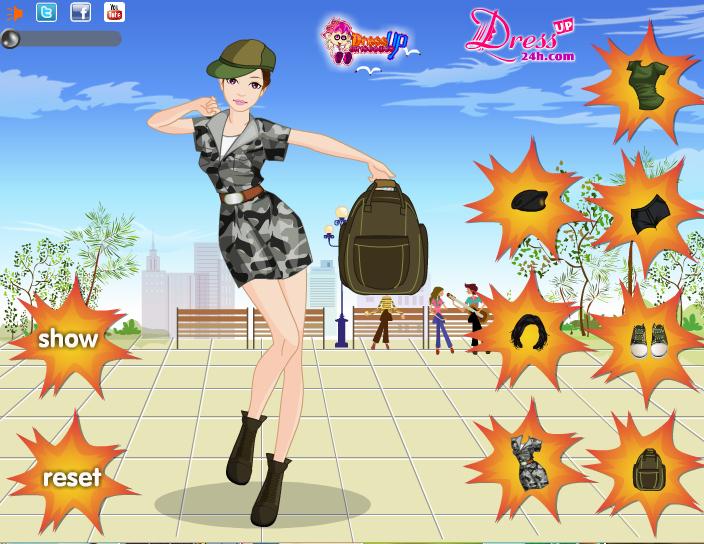 juegos de ropa militar
