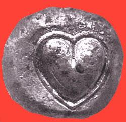 moneda silfio cirene corazon