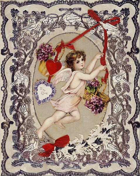 postal san valentin siglo XIX