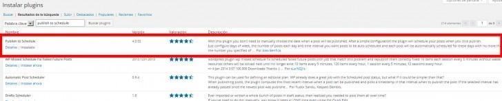 programar publicaciones wordpress
