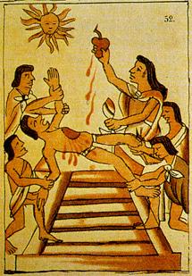 sacrificio azteca corazon