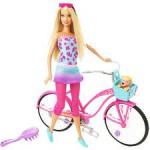 Juego con Barbie en bicicleta