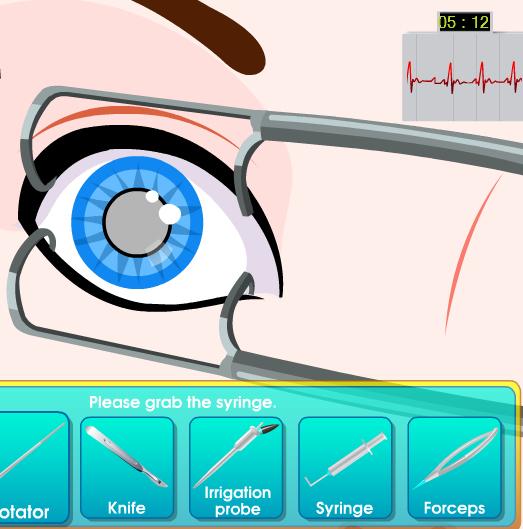 juego operar ojos