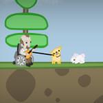 Juego con el perro guía