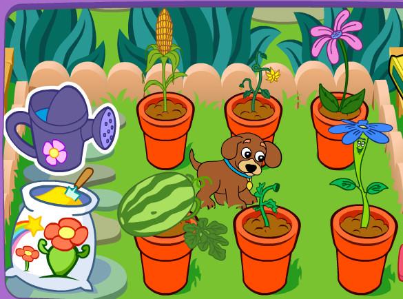 juego perro jardinero