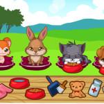 Juego de cuidar dulces y simpáticas mascotas