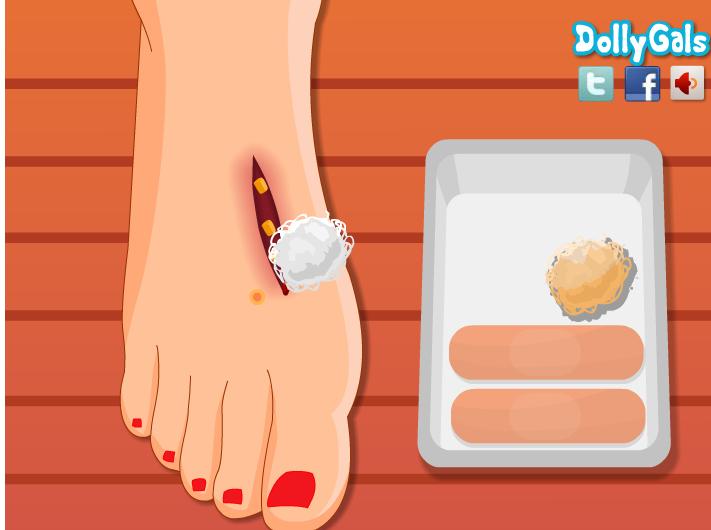 juegos curar pies