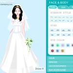 Juego de vestir y maquillaje para novias