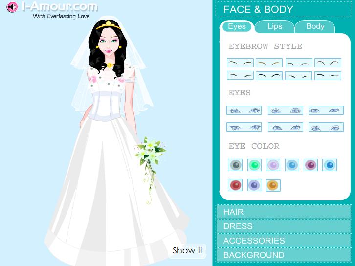 juegos de vestidos de novia