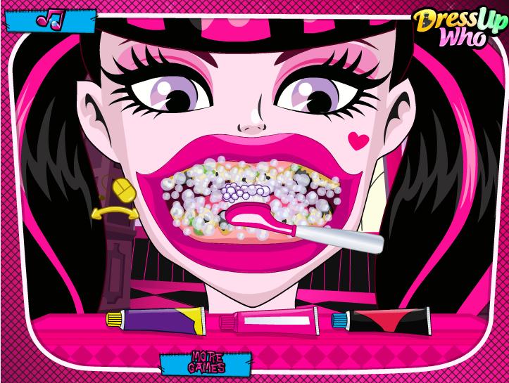juegos dientes draculaura