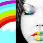 Juego con moda arcoiris