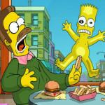 Juego con las letras del alfabeto Simpson