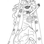 Dibujo de Briar Beauty en el Dia del Destino para pintar